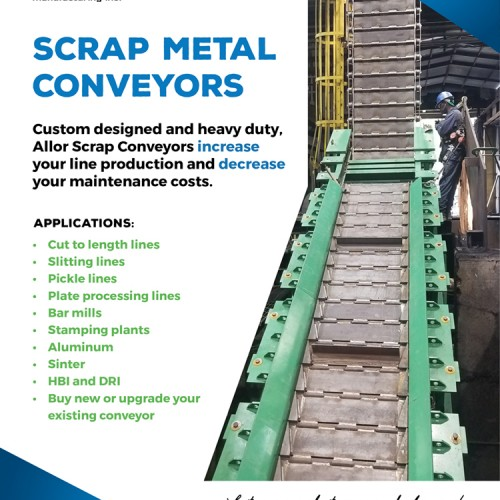 Metal Center News Ad - Allor Scrap Metal Conveyor Systems