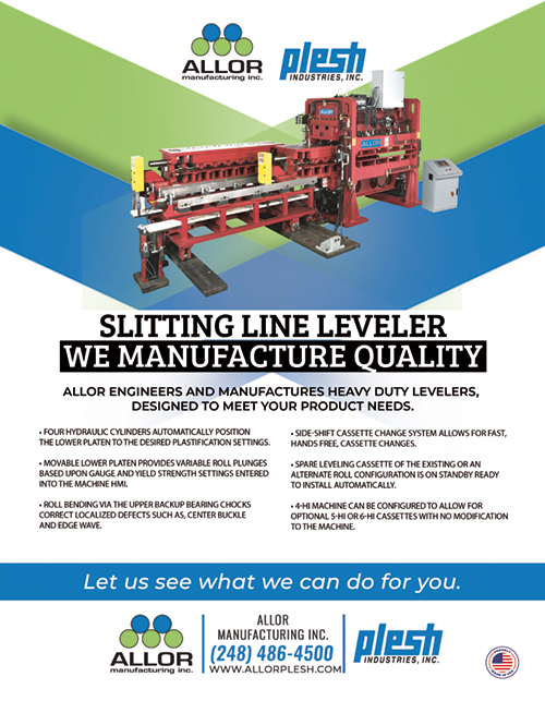 Slitting Line Leveler Ad for Metal Center News
