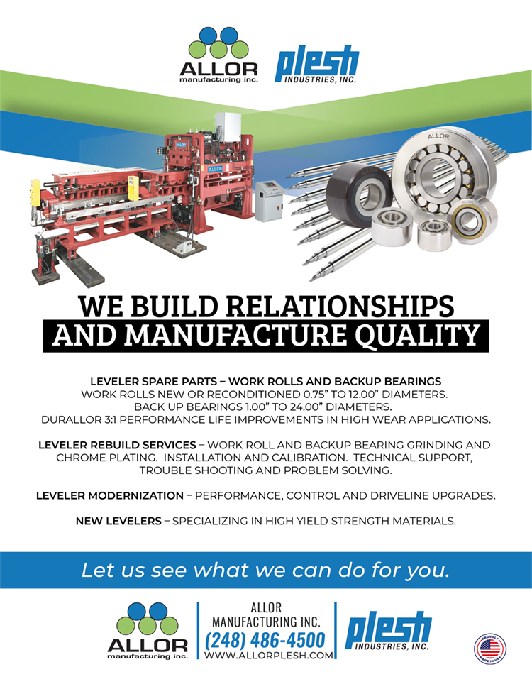 ad featuring levelers and replacement parts for levelers supplied by Allor Manufacturing