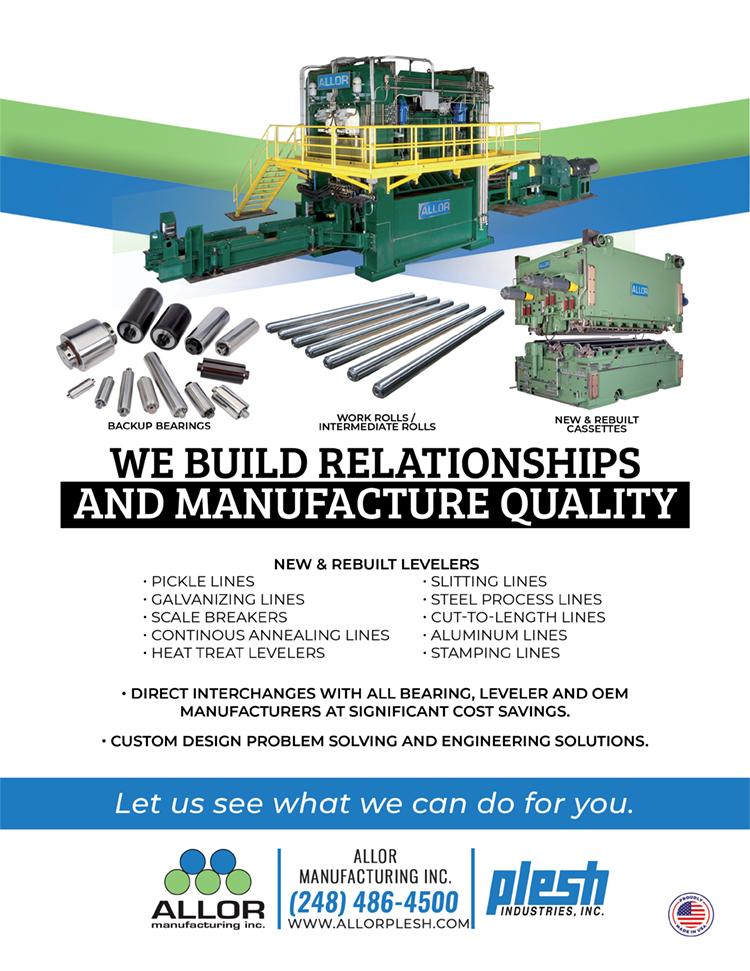 allor ad highlighting work rolls, levelers