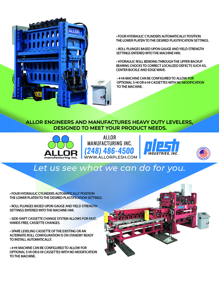 Allor Manufacturing ad highlighting levelers